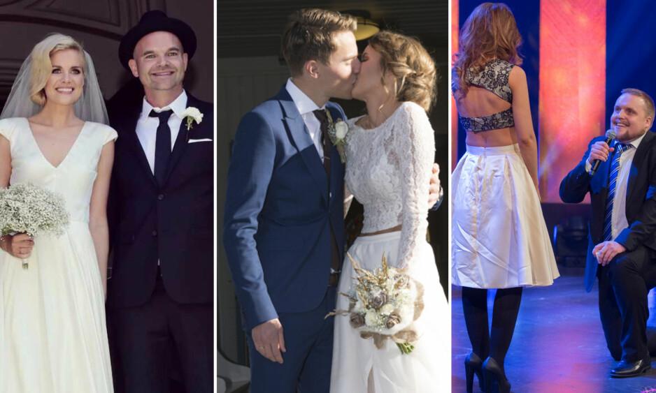 GIFT: Simen Staalnacke, Susanne Wergeland og Stian Thorbjørnsen har alle giftet seg - men ikke alle gikk den tradisjonelle veien. Foto: Sara Johannessen / Erlend Haukeland / Espen Solli