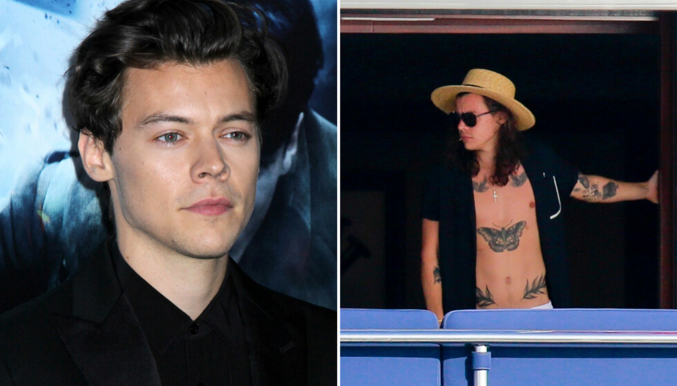<strong>AVSLØRTE TILSKUDD:</strong> Harry Styles (23) fortalte at han har fire brystvorter på amerikansk TV. Foto: NTB Scanpix