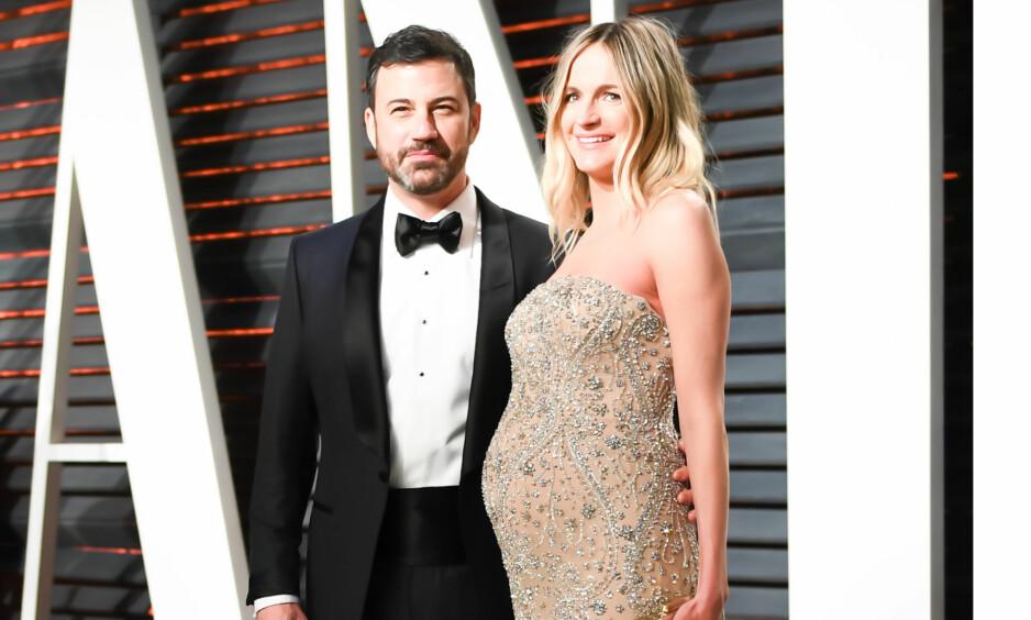 FIKK EN SØNN: For tre måneder siden fødte Jimmy Kimmels kone parets andre barn, sønnen Billy. Fødselen gikk imidlertid ikke helt som forventet. Foto: NTB Scanpix