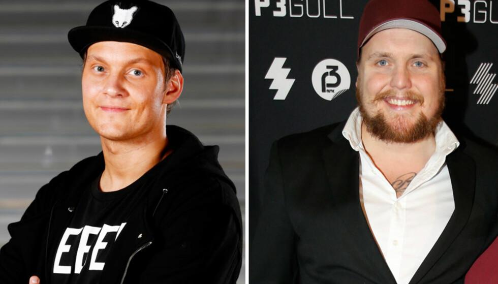 ARTISTKOLLEGER OG VENNER: Petter Kristiansen og Stian Thorbjørnsen er overbevist om at den andre er best. Foto: NTB Scanpix