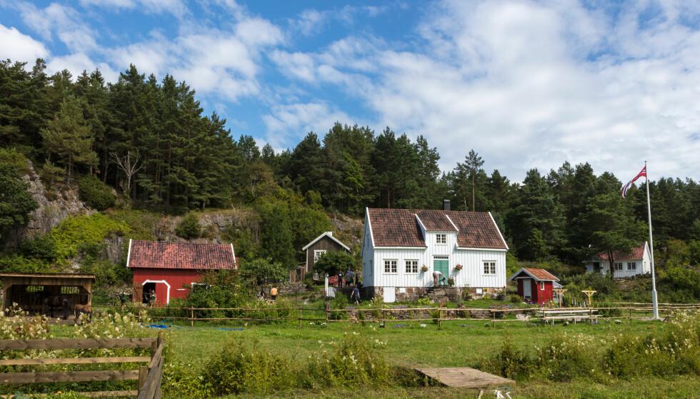 IDYLLISK: Den nye reality-gården ligger flott til på en flekk av Raet Nasjonalpark. Foto: Alex Iversen/ TV 2