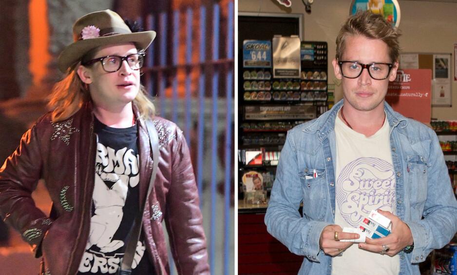 <strong>FORANDRING:</strong> Macaulay Culkin har gjennomgått store forandringer siden mai da bildet til venstre ble tatt. Bildet til høyre ble tatt i Los Angeles denne uken. Foto: NTB Scanpix