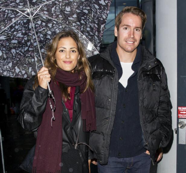 BRYLLUP: Like før jul ble Samantha og Emil forlovet. Neste år blir det både OL og bryllup. Foto: Andreas Fadum