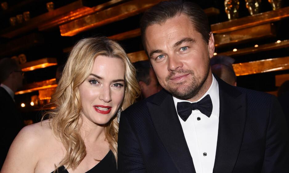 GJENFORENT: Kate Winslet og Leonardo DiCaprio ble gjenforent tidligere denne uken sammen med Flere «Titanic»-skuespillere. Foto: Shutterstock / NTB Scanpix