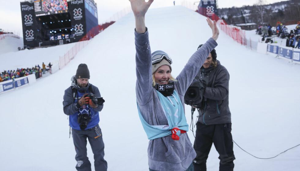 GULL: Silje Norendal tok gull i Big Air-konkurransen i X Games på hjemmebane tidligere i år. Foto: NTB scanpix