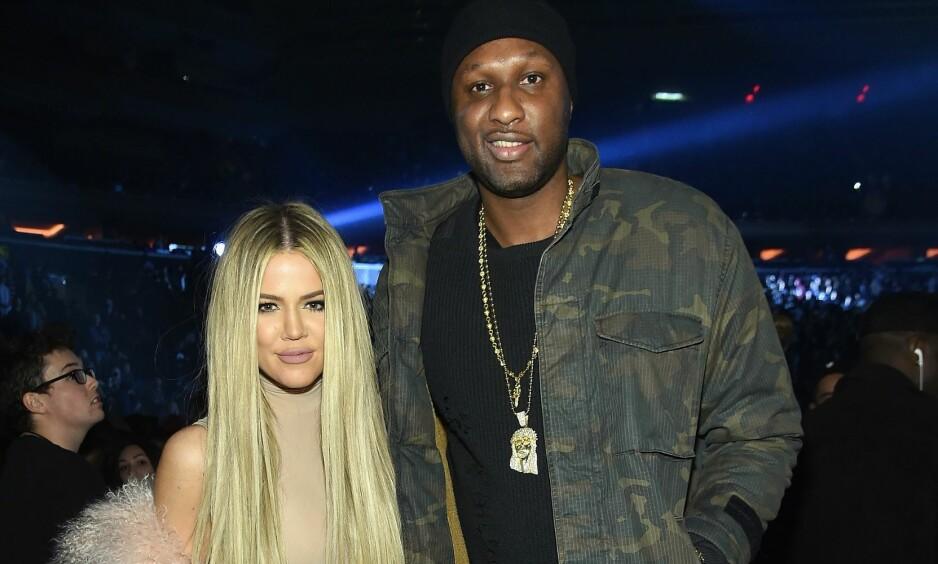 SKILTE SEG: Khloé og Lamar avsluttet ekteskapet i fjor. Nå åpner Lamar seg om rusproblemene, som startet før han møtte stjernen. Foto: AFP / NTB Scanpix