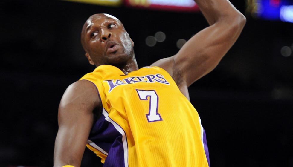 PROFF: Lamar Odom spilte for Los Angeles Lakers og er en verdenskjent basketballspiller. Foto: AP / NTB Scanpix