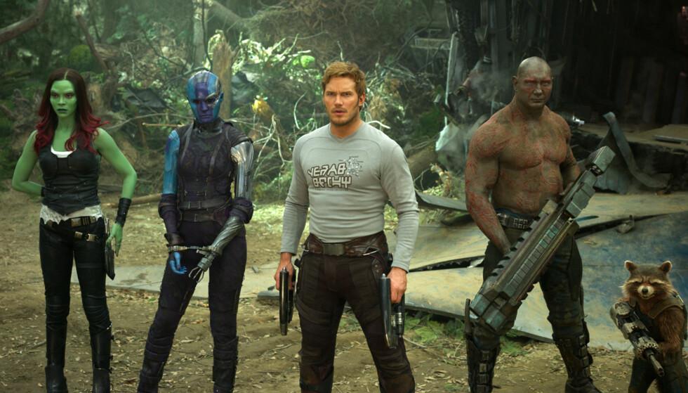 KJENT SKUESPILLER: Chris Pratt er kjent fra flere store filmer de senere årene. Her fra filmen <Guardians of the Galaxy> i 2017. FOTO: Scanpix