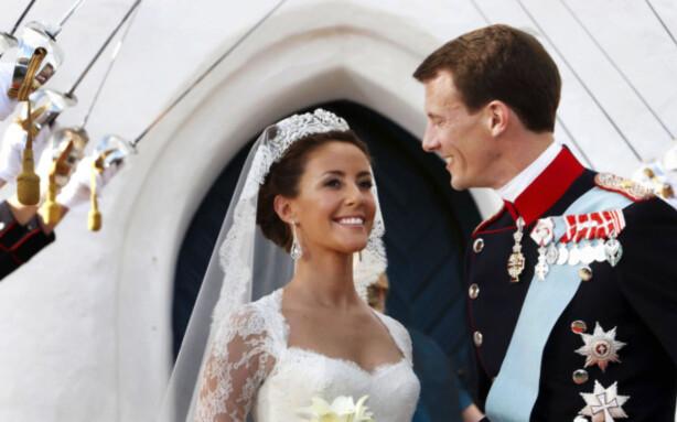 <strong>GIFTET SEG:</strong> Prins Joachim giftet seg med prinsesse Marie i 2008. Foto: AP