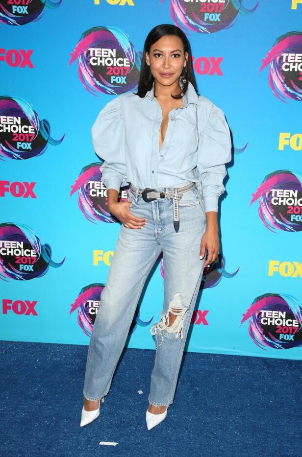 RØD LØPER: Glee-stjernen Naya Rivera (30). Foto: NTB Scanpix