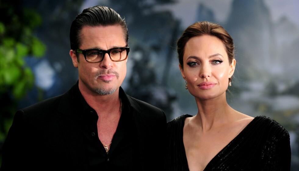 - ET HELVETE: Brad Pitt og Angelina Jolie fremsto som et solid par i offentligheten, men privat skal det ha vært turbulent. Foto: Carl Court / NTB scanpix