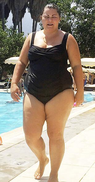 ENDRET LIVSSTIL : Høsten 2014 ga den 165 cm høye barnehage-læreren seg selv og Roede-metoden en ny sjanse. Badevekten viste hele 114 kilo og ryggen var vond. FOTO : PRIVAT