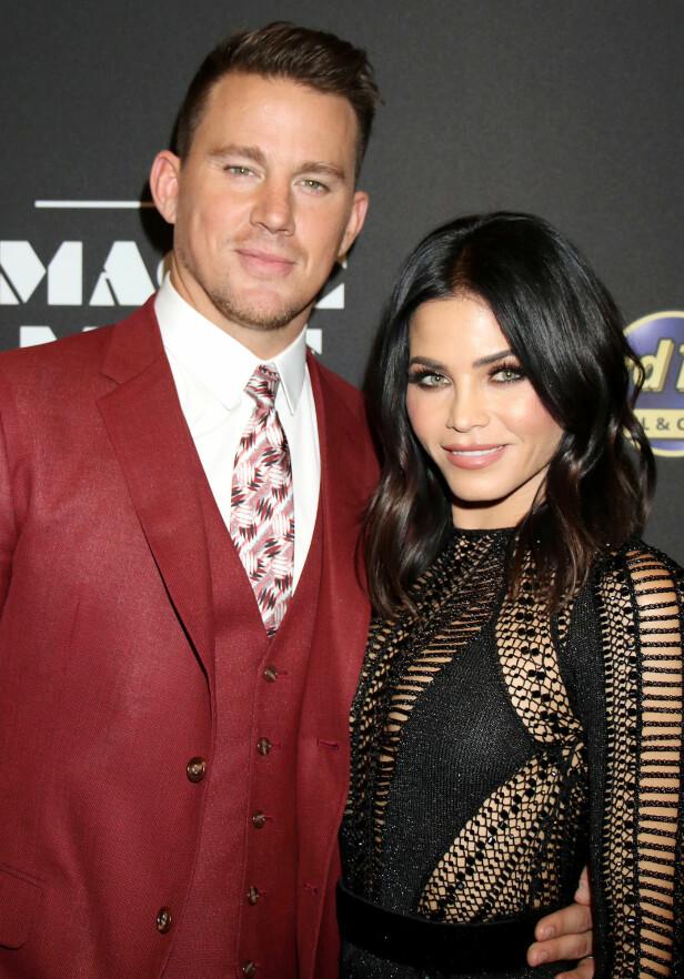 GÅTT VIDERE: Seks måneder etter at Channing Tatum og Jenna Dewan skilte lag, har Channing nå gått videre. Her er duoen fotografert i Las Vegas i fjor. Foto: NTB Scanpix