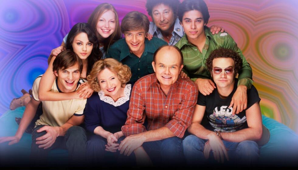 SUKSESS: Laura Prepon (øverst til venstre) er best kjent for sin rolle i serien «That '70s Show». Foto: TV 2