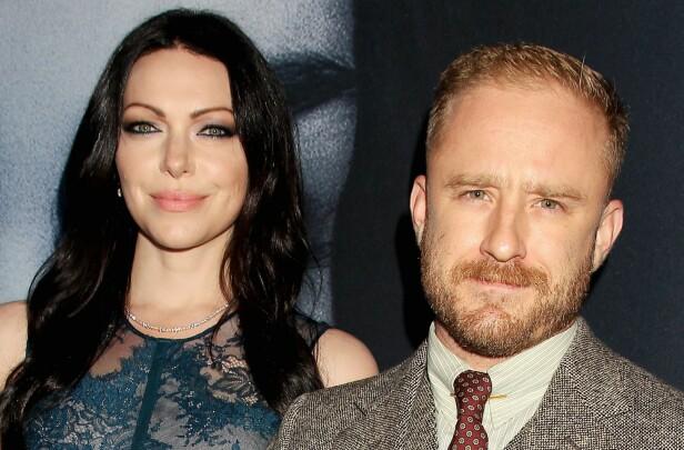 FORT I SVINGENE: Forholdet mellom de to skuespillerne har kun vart i ett års tid, men nå er de foreldre og fremtidige ektepar. Foto: NTB scanpix