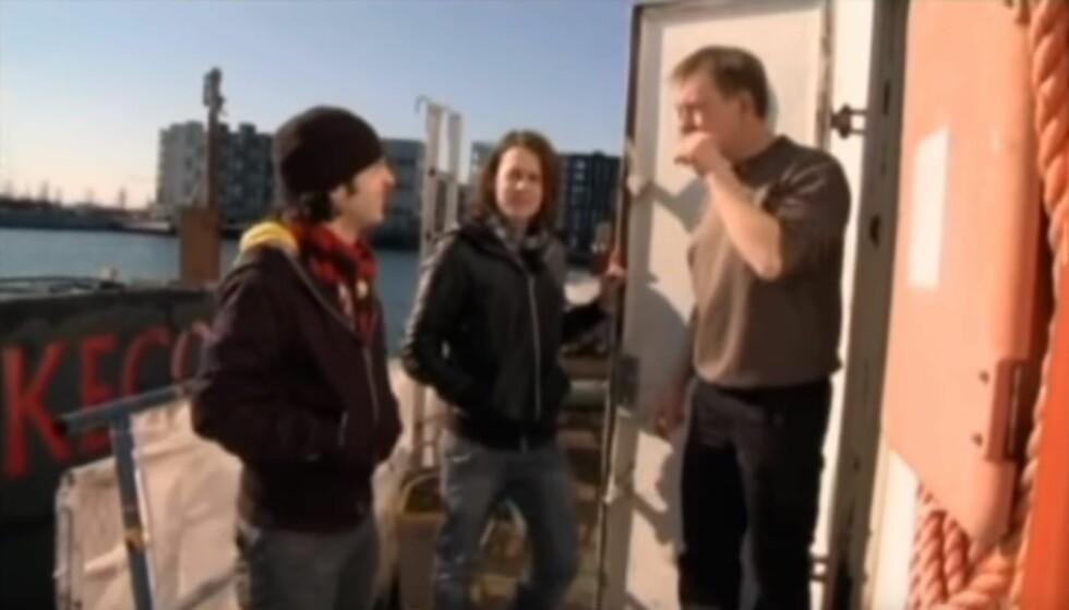 PÅ BESØK: Vegard og Bård Ylvisåker besøkte den nå drapssiktede Peder Madsen om bord i hans ubåt i 2010. Foto: Skjermdump fra YouTube