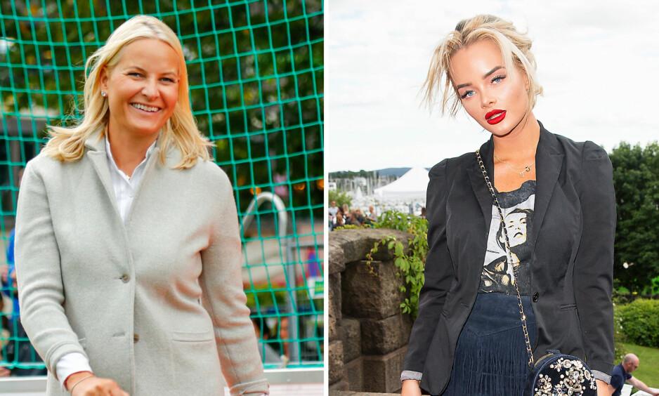 VISER STØTTE: Kronprinsesse Mette-Marit og blogger Sophie Elise er kun noen av dem som skal delta under «Skamløsdagen» i Oslo førstkommende mandag. Foto: NTB scanpix / Andreas Fadum