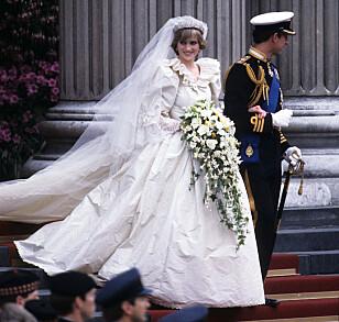 BERGTOK EN HEL VERDEN: Prinsesse Diana hadde alles øyne rettet på seg, da hun giftet seg med prins Charles. Foto: NTB Scanpix