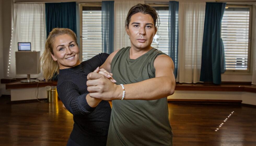 DANSELØVER: Lørdag braker det løs for Erlend Elias og dansepartneren Marianne Sandaker. Foto: Jørn H Moen / Dagbladet