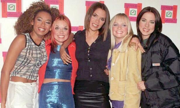 SUPERSUKSESS: Mel B, Geri, Victoria, Emma og Mel C utgjorde den populære jentegruppa Spice Girls, som på 1990-tallet erobret verden med sin dansbare pop. Foto: NTB scanpix