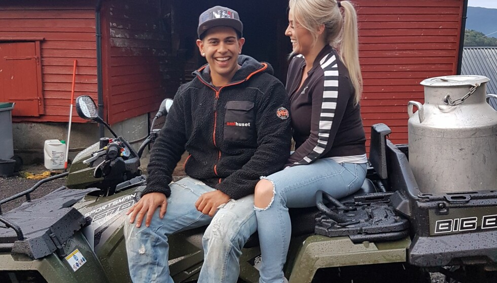 FORELSKET: Siden mars har Ruben vært kjæreste med flotte Julie Vabø. Foto: Privat.