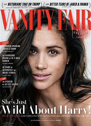 PRYDER COVERET: Meghan Markle er på forsiden i den nyeste utgaven av Vanity Fair. Foto: Faksimile
