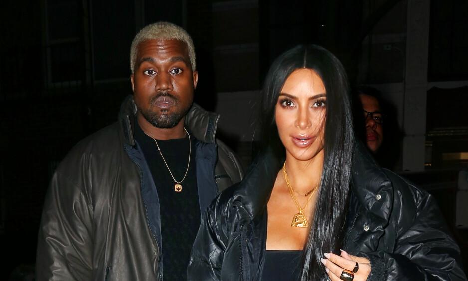 BLIR FORELDRE: En kilde hevder at Kim Kardashian og Kanye West allerede neste år blir foreldre igjen. Kim slipper imidlertid å bære frem barnet selv, og har valgt en surrogatmor i stedet. Foto: NTB scanpix