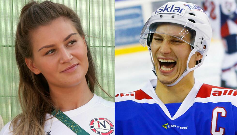 BEKREFTER ROMANSE: Amanda Kurtovic og Vålerenga-kaptein Brede Csiszar er et par. Det bekrefter hockeyspilleren selv. Foto: NTB scanpix