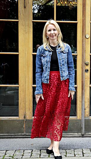 <strong>STRÅLER:</strong> Anne Brith strålte da hun møtte pressen i forbindelse med årets «Bloggerne»-sesong. Foto: Nina Hansen, Dagbladet