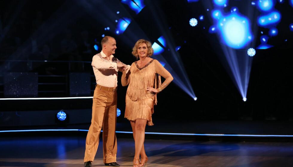 DANSEDRONNING: På lørdag er Trude Drevland og dansepartneren Bjørn Wettre Holthe klare for parketten for fjerde gang denne sesongen. Foto: TV 2
