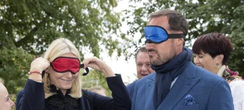 Kronprinsparet avsluttet fylkestur i blinde