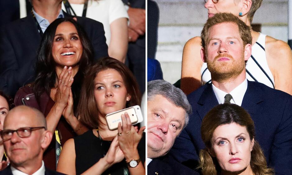 HOLDT AVSTAND: Meghan Markle og prins Harry deltok på samme arrangement, men satt langt fra hverandre. Foto: NTB scanpix