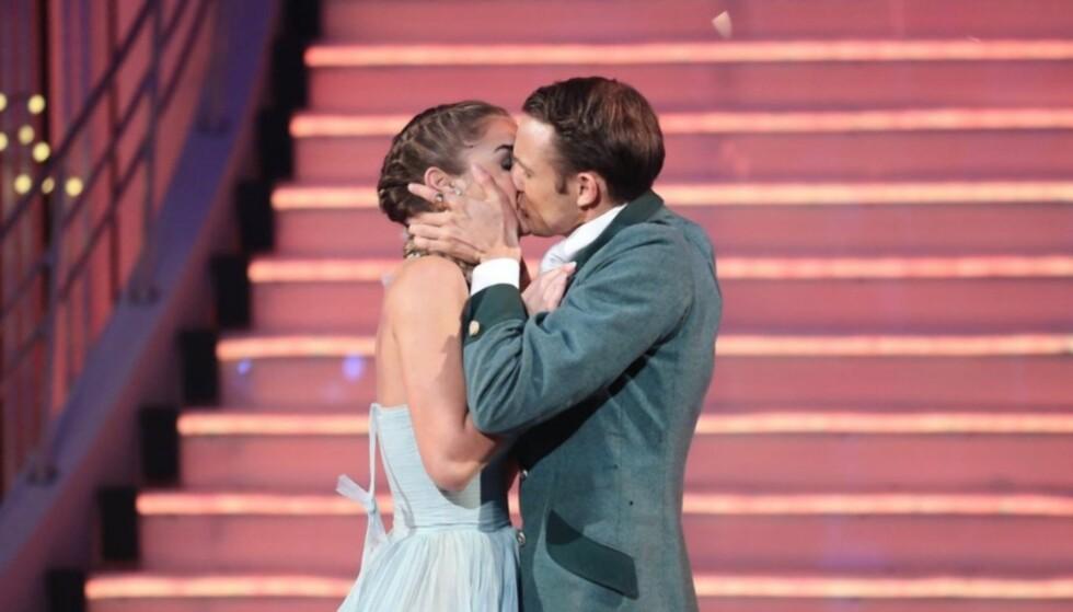 <strong>HETE FØLELSER:</strong> Adelén og Benjamin fant hverandre både på dansegulvet og privat i 2015. Foto: TV 2
