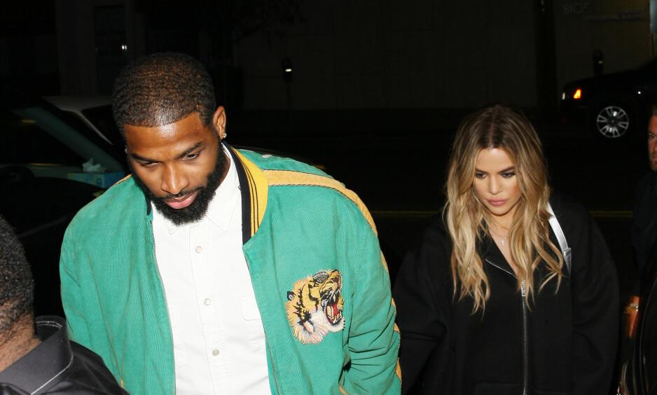- VENTER BARN: Khloe Kardashian venter angivelig sitt første barn sammen med kjæresten Tristan Thompson. Foto: NTB Scanpix