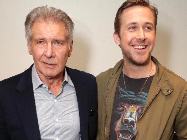 GOD TONE: Harrison Ford og Ryan Gosling. Foto: Eric Charbonneau/REX/Shutterstock/ NTB scanpix
