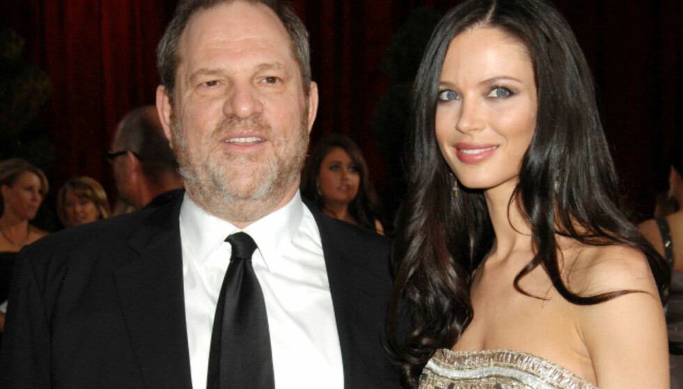 GIFT: Harvey Weinstein sammen med sin nåværende kone Georgina Chapman tidligere i år. Foto: NTB Scanpix
