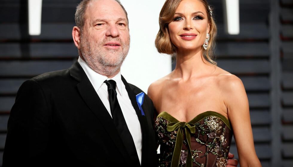 <strong>SKILLES:</strong> Harvey Weinstein og Georgina Chapman bestemte seg for å gå hver til sitt etter at overgrepsskandalen ble kjent. Foto: NTB scanpix
