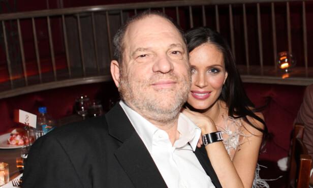 LYKKEN BRAST: Ekteskapet mellom Harvey Weinstein og Georgina Chapman er historie. Her er de sammen i 2012. Foto: NTB Scanpix