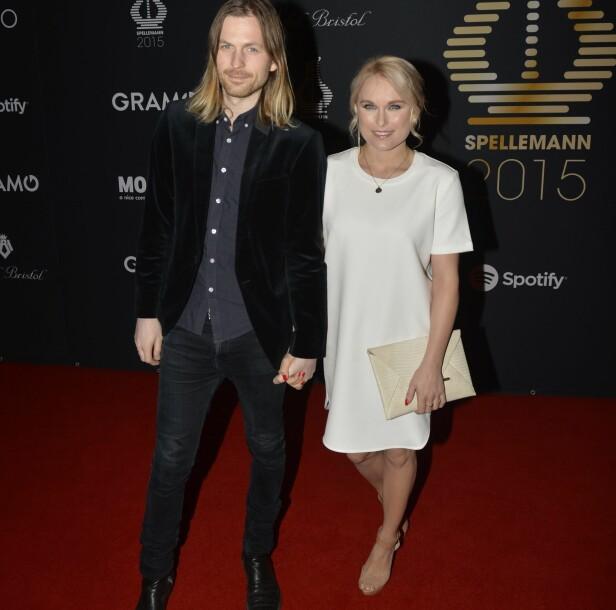 GODT GIFT: Neste år har Eva Weel Skram og Thomas Stenersen vært gift i ti år. Her er de sammen på utdelingen av Spellemannprisen 2015. Foto: Fredrik Varfjell / NTB scanpix