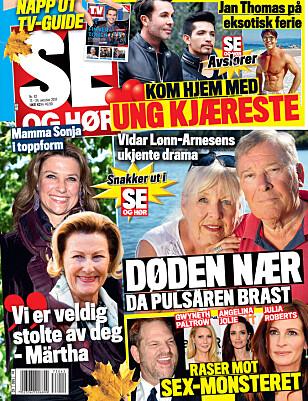 I SALG NÅ: I nyeste nummer kan du lese mer om Jan Thomas og hans nye kjæreste. Faksimile: Se og Hør.