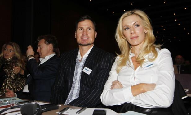 MR. OG MRS: Petter Stordalen og Gunhild Stordalen gifta seg i Marokko i 2010. Her er paret på miljøstiftelsen Zero sin konferanse på Gardermoen det året. Foto: NTB scanpix