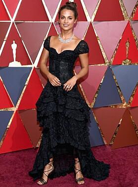 PÅ OSCAR: Alicia på Oscar-løperen i fjor. Foto: NTB scanpix