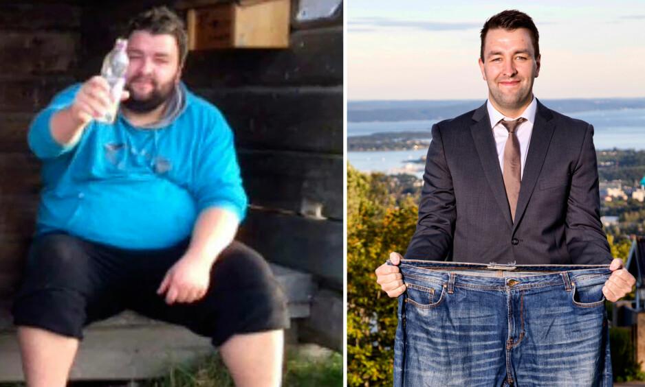 UNG OG TUNG: Morten Nordal fra Levanger veide hele 167 kilo da han meldte seg på sitt første Grete Roede-kurs. Da hadde han store helseproblemer. Foto: Privat/Morten Eik
