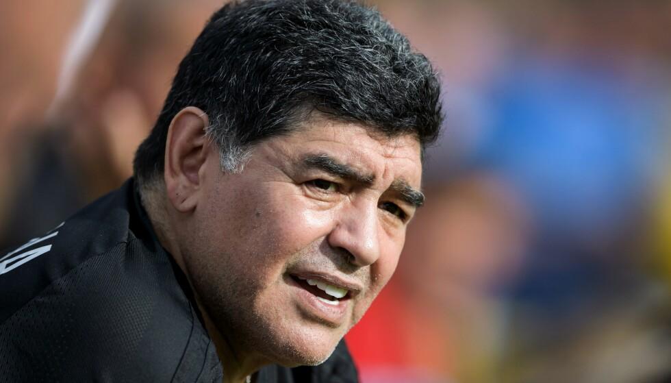SKUFFET: Diego Maradona gikk hardt ut mot Icardi. Foto NTB Scanpix