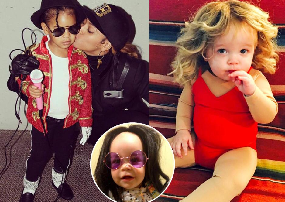 HALLOWEEN: Kjendisbarnas søte kostymer får oss til å le høyt. Foto: Instagram