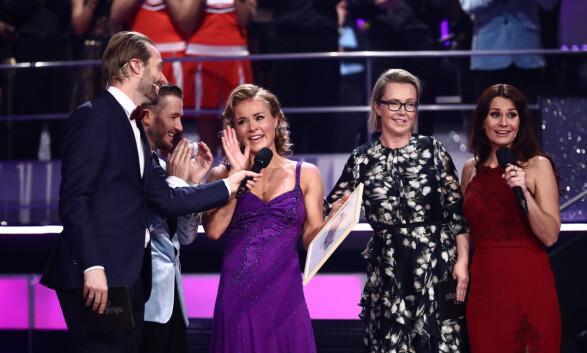 FØLELSESLADET: Helene Olafsen fikk skryt for sin slowfox, og ble dessuten overrasket med en hederspris fra Snowboardforbundet. Foto: Thomas Reisæter/ TV 2