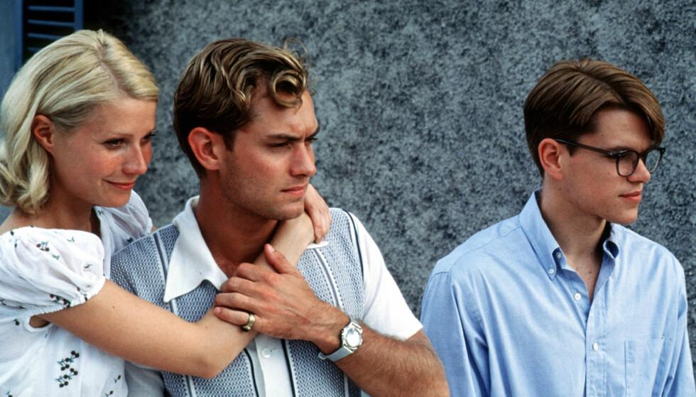 <strong>MED GWYNETH PALTROW:</strong> Her er Jude Law og Matt Damon i filmen The Talented Mr Ripley i 1999. Foto: NTB Scanpix