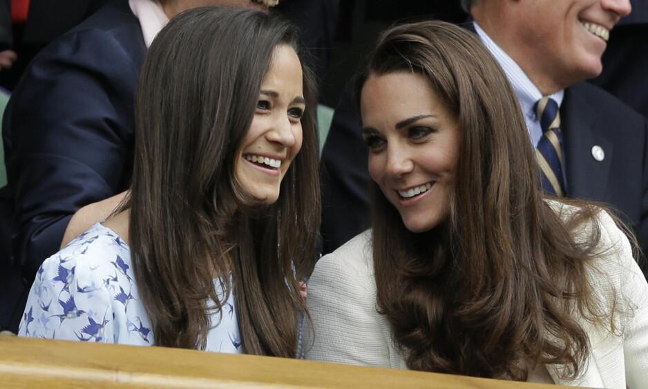BESTEVENNER: Søstrene Pippa og Kate er svært nær hverandre, og skal ha planlagt å bli gravide sammen. Foto: NTB scanpix