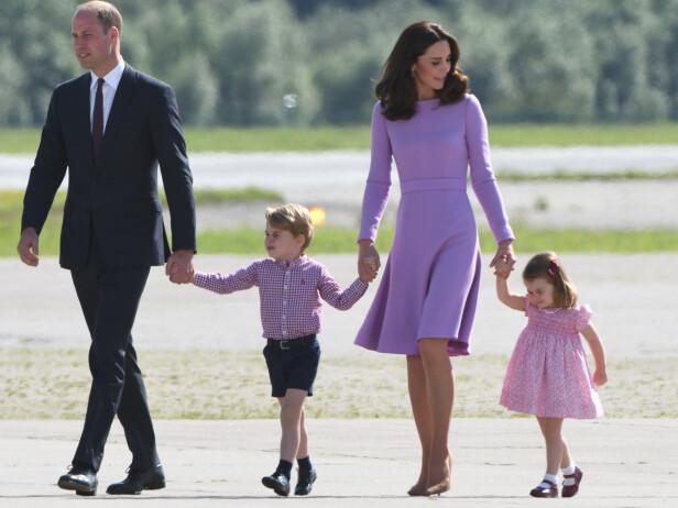 FIRE BLIR FEM: Kate og William med barna George og Charlotte. I april neste år blir de foreldre for tredje gang. Foto: NTB scanpix