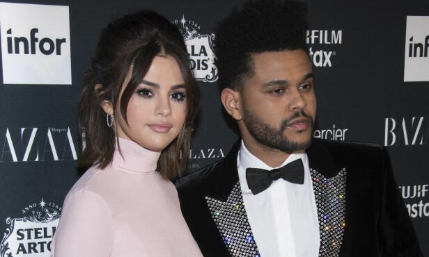 <strong>BRUDD:</strong> Selena Gomez og artist The Weeknd var kun sammen i noen måneder før de nylig gikk hver til sitt. Foto: NTB scanpix